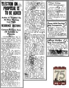 News clippings (March 1938)