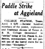 Paddle Strike at Aggieland (image)