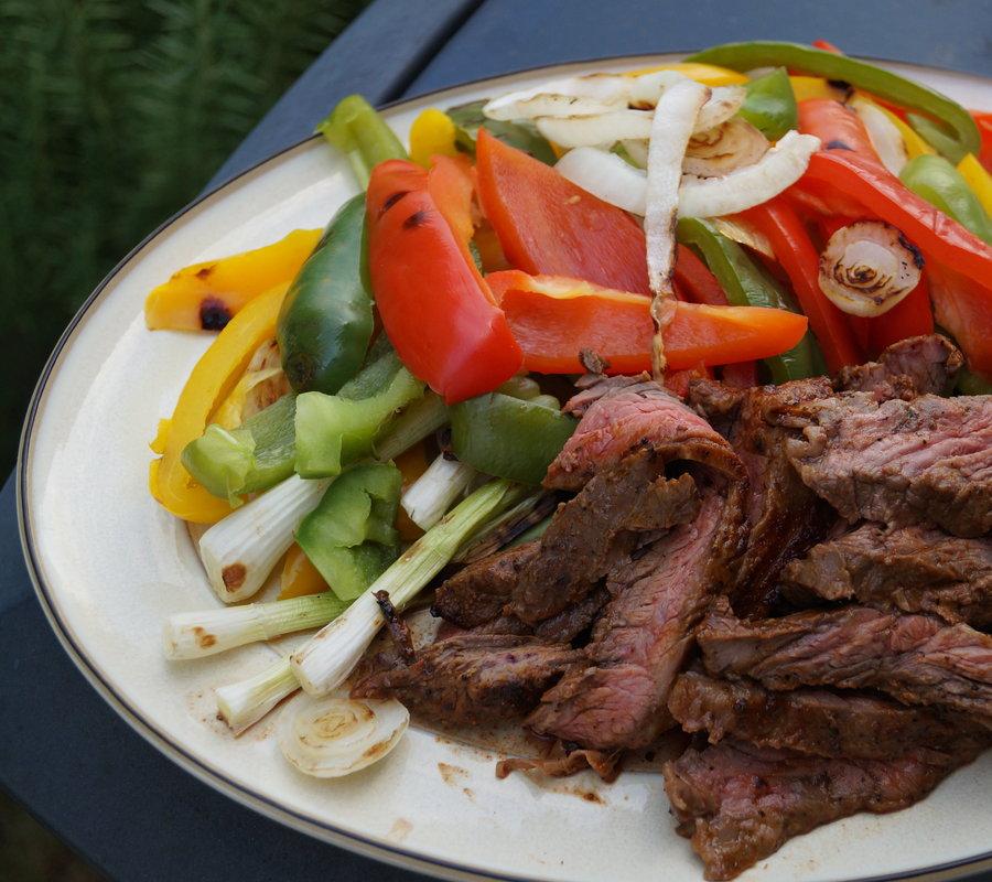 fajitas grilled steak fajitas roasted chickpea fajitas beef fajitas ...