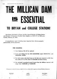 Millican dam