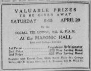 Masonic Ad