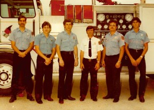 A part of CSFD's 1979 recruiting class, Bart Humphreys (second from right) is retiring Friday.