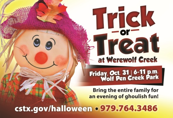 Trick Or Treat At Werewolf Creek City Of College Station
