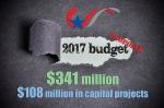 36713085 - 2017 budget  word under torn black sugar paper