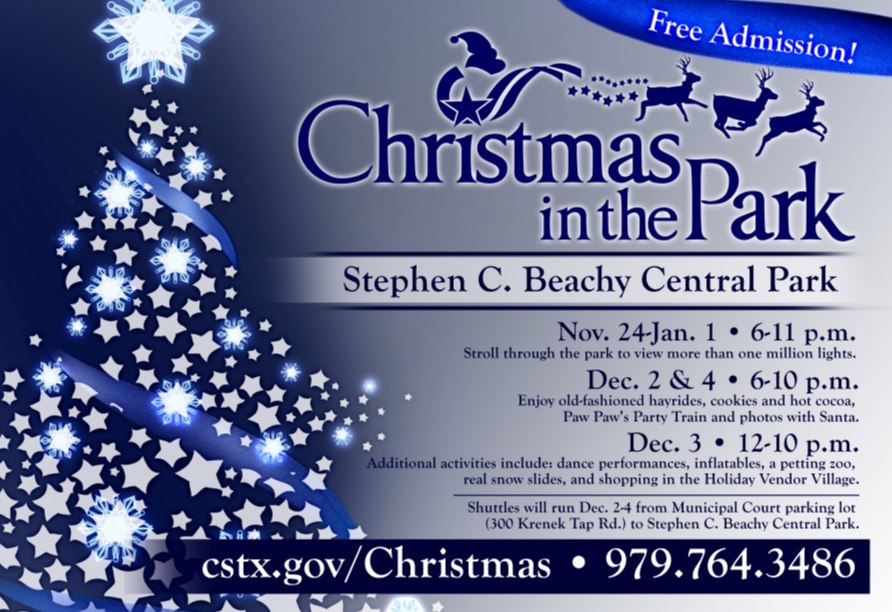 christmas in the park an event like no other citp - College Station Christmas Lights Park