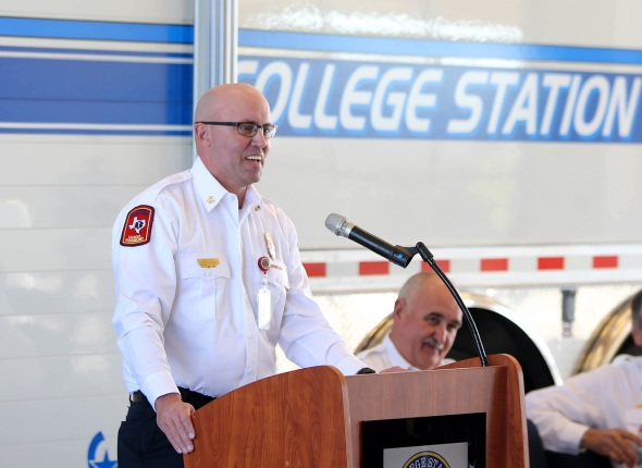 College Station Fire Chief Jonathan McMahan.