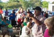 A part of the annual Juneteenth celebration, Praises at the Pavilion features spiritual groups, churches, soloists and praise teams giving musical interpretations about a day of jubilee and freedom.