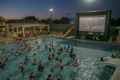 """In July, the Parks Recreation Department showed the hit movie """"Moana"""" on its 32-foot high inflatable screen at Adamson Lagoon."""