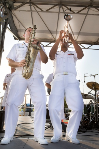 The renowned U.S. Navy Band Cruisers performed a free concert in early August at Veterans Park and Athletic Complex.