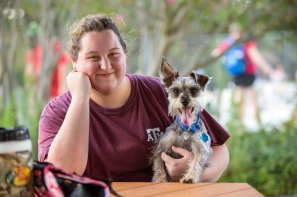 We were not quite sure who was more excited about Doggie Day at the Pool -- the owner or the dog. The event was held in August at Cindy Hallaran Pool.