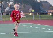 The Junior Beginner Tennis program attracts dozens of aspiring young players to Bee Creek Park each fall.