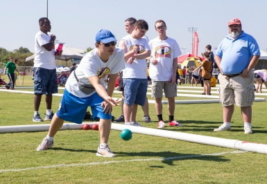 Bocce was a popular activity at the Special Olympics Fall Classic at Veterans Park and Memorial Complex.