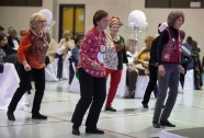 A little holiday dancing at the Age of Elegance Banquet in December at the Lincoln Recreation Center.