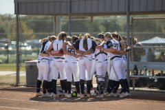 The first weekend in November found some of the top girls softball teams in the country converging on College Station for the 2020 Bombers Exposure Weekend tournament. This team gathered for prayer before taking the field at Beachy Central Park.