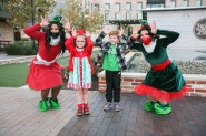 A couple of cute kids had fun with Holly & Jolly the Elves in Century Square as part of the city's Christmas in College Station events.