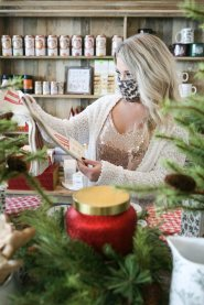 A woman searches for the perfect Christmas gift in a Century Square shop. The city aggressively promoted local shopping to help the community recover from the economic impact of the COVID-19 pandemic.